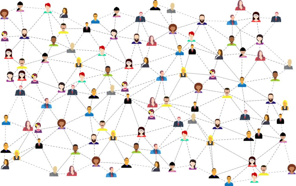 graphic of a social network